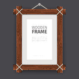 Old Wooden Rectangle Frame Royalty Free Stock Photography