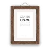 Old Wooden Rectangle Frame Light Royalty Free Stock Photos