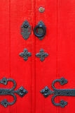 Old wooden red door Royalty Free Stock Image