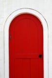 Old wooden red door Stock Image