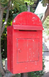 Old wooden red post box Royalty Free Stock Photo