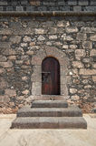 Old wooden Renaissance castle doors Royalty Free Stock Photo