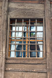 Old Wooden Reshotka on the window of the house in Koprivshtitsa, Bulgaria Royalty Free Stock Photos