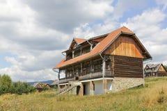 Old wooden residence in tourist settlement Czorsztyn, Poland Royalty Free Stock Photo