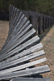 Old, wooden, rickety fence Stock Photography
