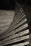 Old, wooden, rickety fence royalty free stock image