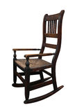 Old Wooden Rockin Chair. Old wooden rocking chair isolated with clipping path Stock Images