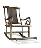 Old wooden rocking chair with clipping path Royalty Free Stock Photography