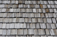Old wooden roof. Roof covering in old wooden royalty free stock photo
