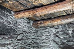 Old wooden roof Stock Photography