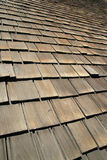 Old wooden roof shingles Stock Photos