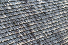 Old wooden roof shingles Royalty Free Stock Photo