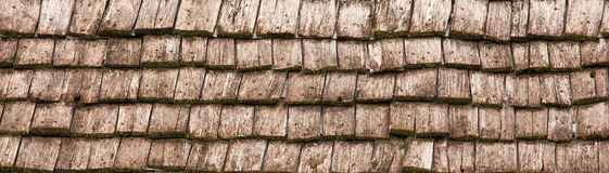 Old Wooden Roof Tiles Royalty Free Stock Image