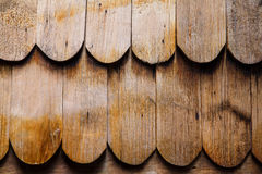 Old wooden roof tiles stock image