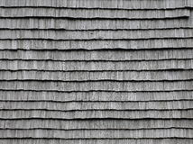 Old wooden roof tiles. Royalty Free Stock Photo