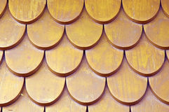 Old wooden roofs. Pattern of wooden roofs.old thai style Stock Photography