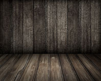 Old wooden room background Stock Images