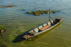 Old wooden rowboat Royalty Free Stock Images