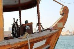 Wooden rudder. Old wooden rudder in a ship Stock Images