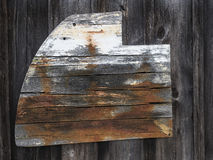 Old Wooden Rudder Royalty Free Stock Photos