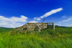 Old wooden ruin house in the mountains of Fagaras Mountains in R Royalty Free Stock Photos