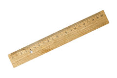 Old wooden ruler Royalty Free Stock Photography
