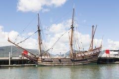Old wooden sail ship Stock Photos