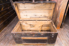 Free Old Wooden Sailors Trunk Royalty Free Stock Images - 55920759
