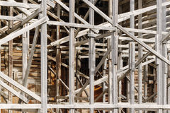 Old wooden scaffolding Stock Image
