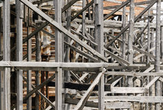 Old wooden scaffolding Stock Photography