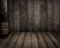 Old wooden scene as pirates theme background Royalty Free Stock Image