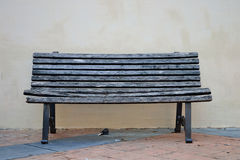 An old wooden seat Stock Photo