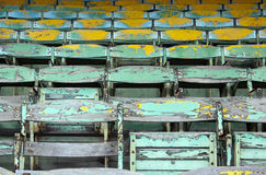 Old wooden seats Stock Photography