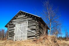 Old wooden shed Stock Images