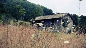 Old wooden shed in the country Stock Photos