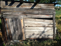 Old.  wooden shed, hayloft Stock Photos