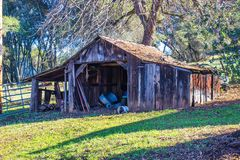 Old Wooden Shed In Fall Royalty Free Stock Image