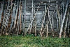 Old wooden shed wall, vintage image Royalty Free Stock Image