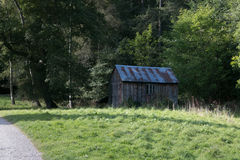 Old wooden Shed in woodland Royalty Free Stock Photos