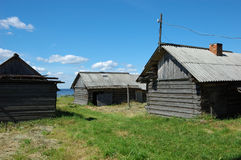 Old wooden sheds Royalty Free Stock Photo