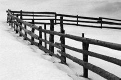 Old wooden sheepfold fence Stock Images