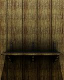 Old wooden shelf Stock Image