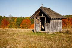 Old wooden shelter Royalty Free Stock Photos