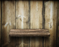 Old wooden shelves. The old wooden shelves background Stock Photo