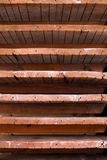 Old wooden shelves with the natural texture Stock Photo