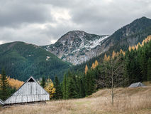 Old wooden shepherd's hut Stock Photo