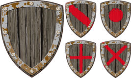 Old wooden shield Royalty Free Stock Image