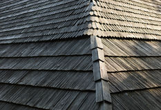 Old wooden shingle roof Stock Photography