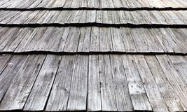Old wooden shingle roof Royalty Free Stock Photography