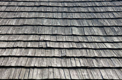 Old wooden shingle roof Stock Images